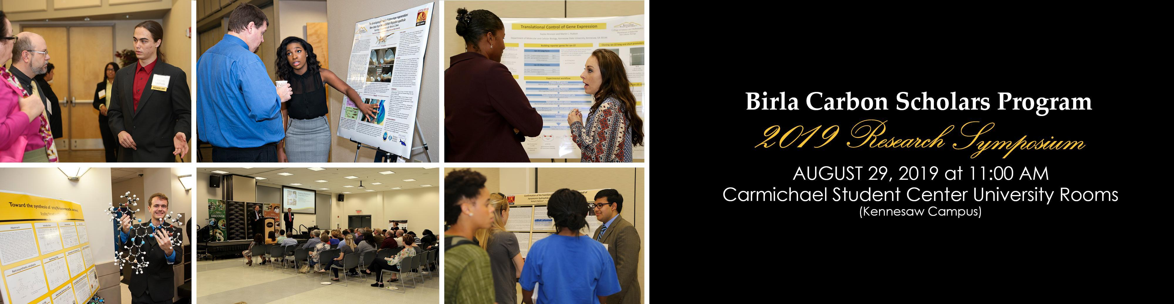 2019 Birla Carbon Scholars Program Research Symposium