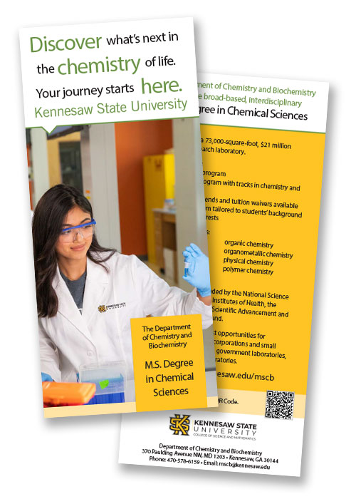 Master of Science in Chemical Sciences (MSCB) graduate degree program informational brochure