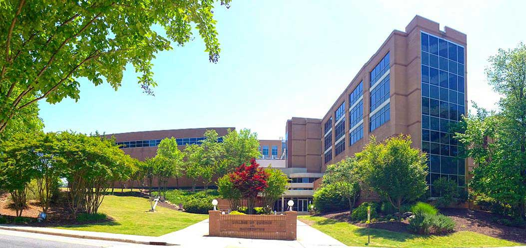 Photo of the College of Science and Mathematics buildings on the Kennesaw Campus