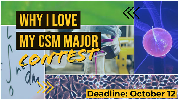 "Graphic for the ""Whi I love my CSM major"" contest"