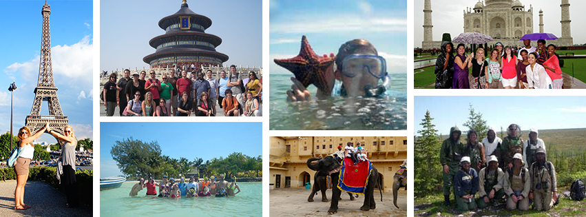 Photo collage of CSM Education abroad programs