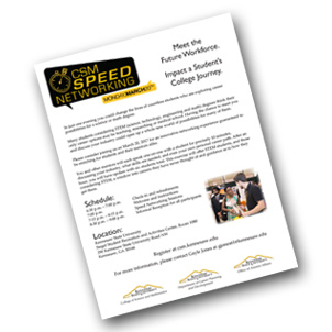 CSM Speed Networking Flyer for Alumni or Industry Professionals