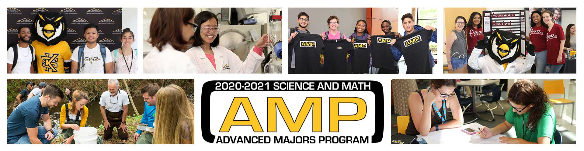 Photo collage of students in the Advanced Majors Program 2020-2021