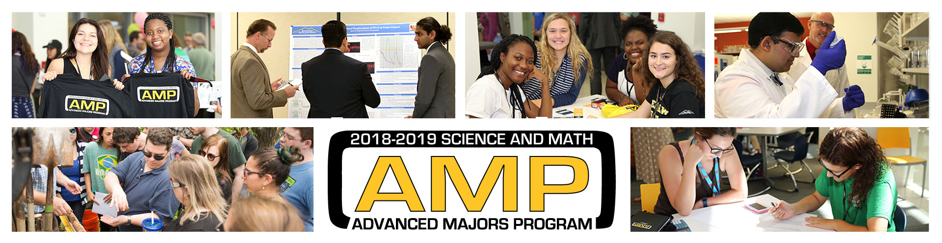 Photo collage of students in the Advanced Majors Program