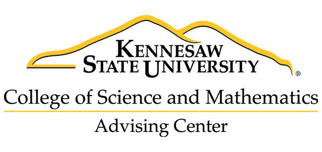 College of Science and Mathematics Advising Center logo and link to website