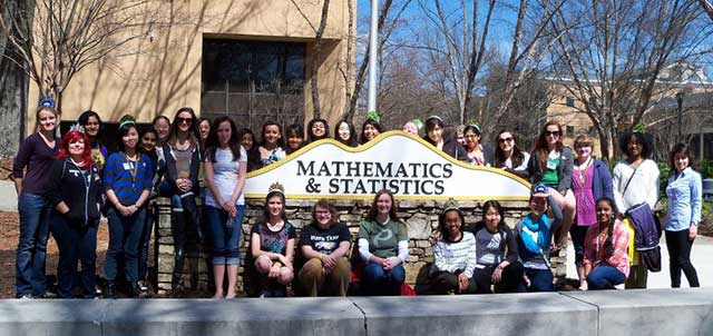 Group photo of Queens of Math students
