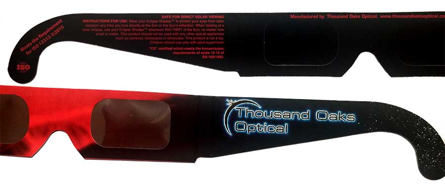Photo of Thousand Oaks Optical SOlar Eclipse glasses